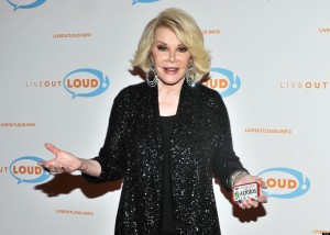 NEW YORK, NY - APRIL 30: TV personality star Joan Rivers attends the 12th Annual Live Out Loud Gala at The Times Center on April 30, 2013 in New York City. (Photo by Daniel Zuchnik/Getty Images)