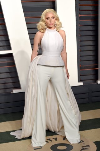 BEVERLY HILLS, CA - FEBRUARY 28: Lady Gaga attends the 2016 Vanity Fair Oscar Party Hosted By Graydon Carter at Wallis Annenberg Center for the Performing Arts on February 28, 2016 in Beverly Hills, California. (Photo by Karwai Tang/WireImage)