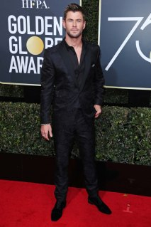 Mandatory Credit: Photo by REX/Shutterstock (9307701fr) Chris Hemsworth 75th Annual Golden Globe Awards, Arrivals, Los Angeles, USA - 07 Jan 2018